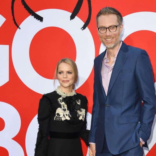Stephen Merchant and Mircea Monroe